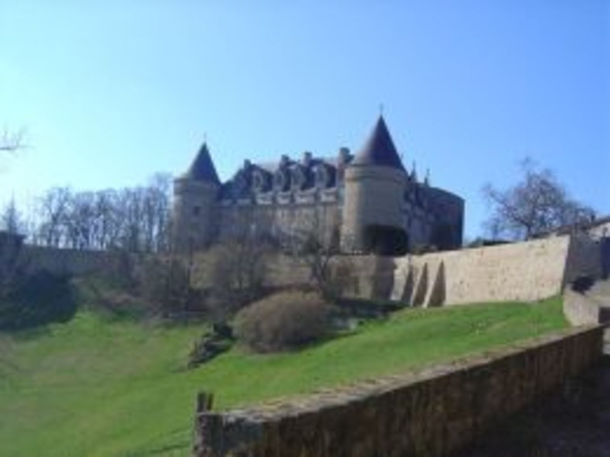 The Chateau at Rochechouart - now the Centre of Contemporary Art - about fifteen minutes from Chassenon and from Les Trois Chenes at Videix