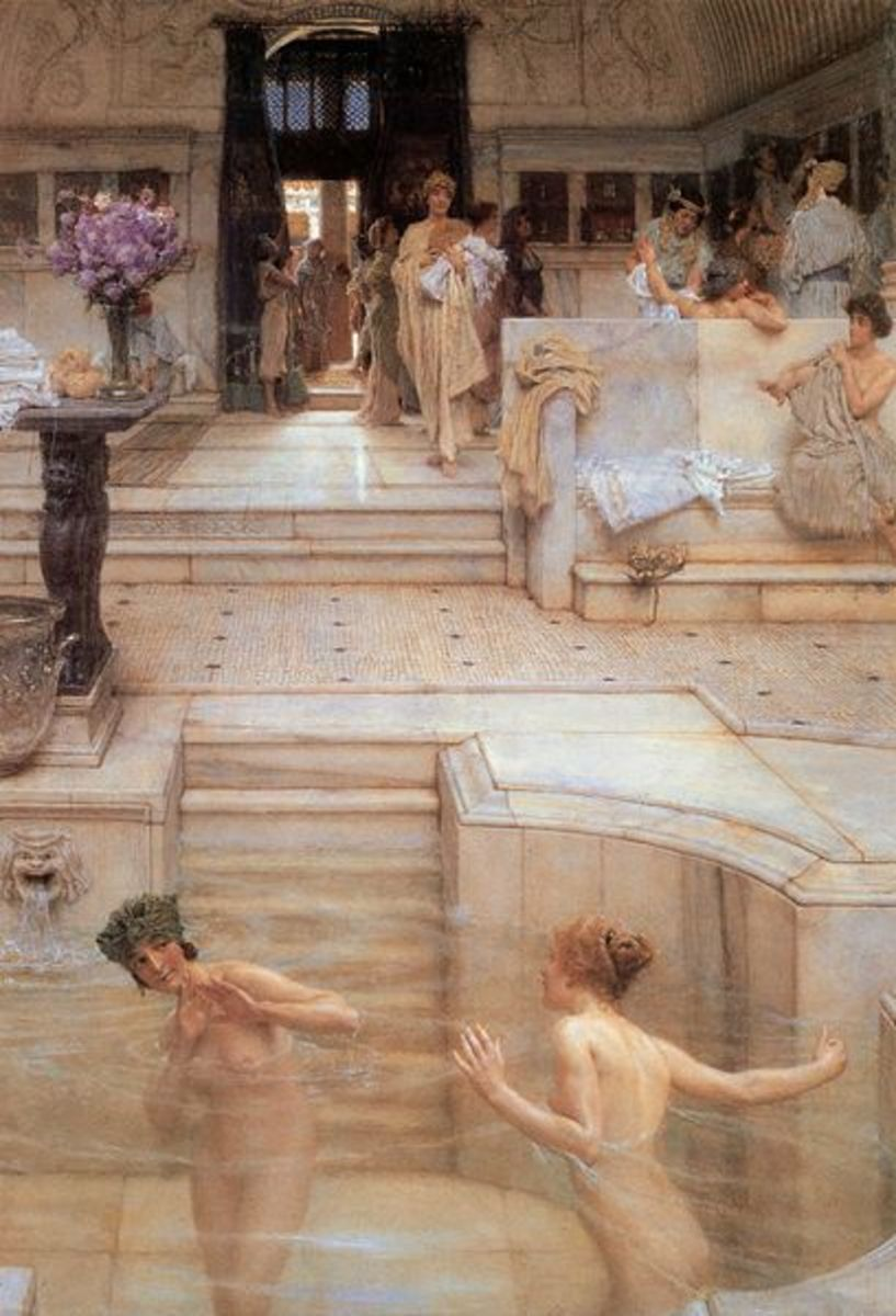 Lawrence Alma-Tadema (1836–1912)  English: A Favourite Custom (From the Birmingham Museum and Art Gallery Public Domain Image PD-OLD courtesy of Wikimedia Commons)