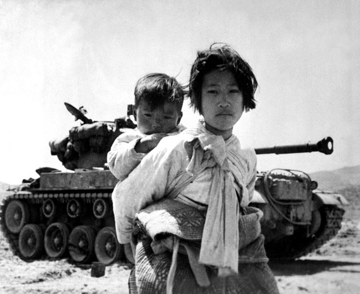 Refugees during the Korean War