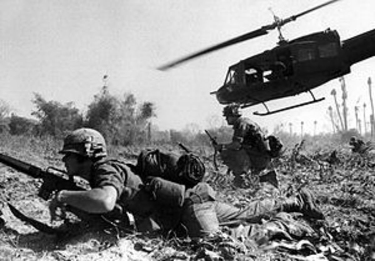 U.S. Soldiers at The Battle of Ia Drang