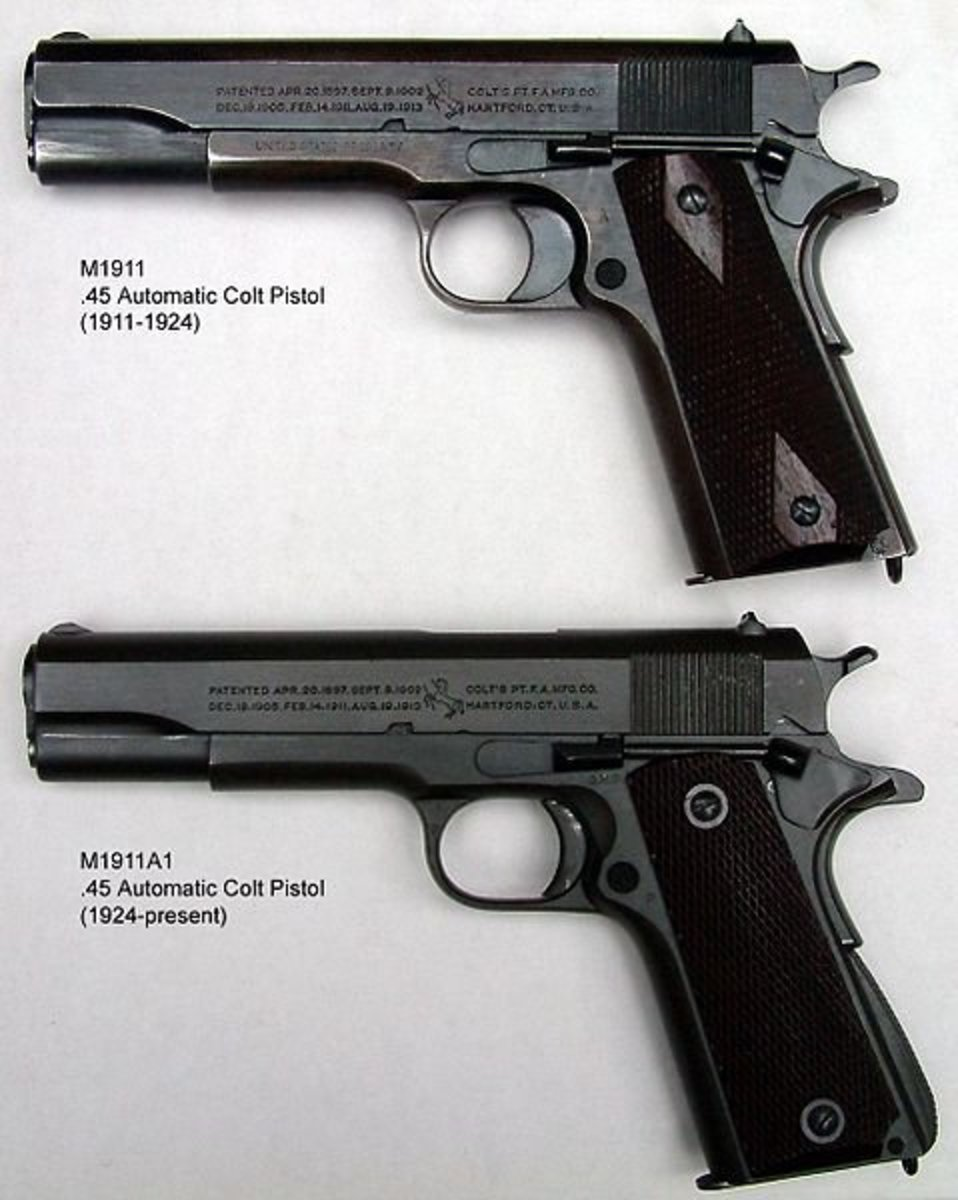 The government issued .45 caliber sidearm. This is said to be the only weapon Basil L. Plumley carried into the Battle of Ia Drang.