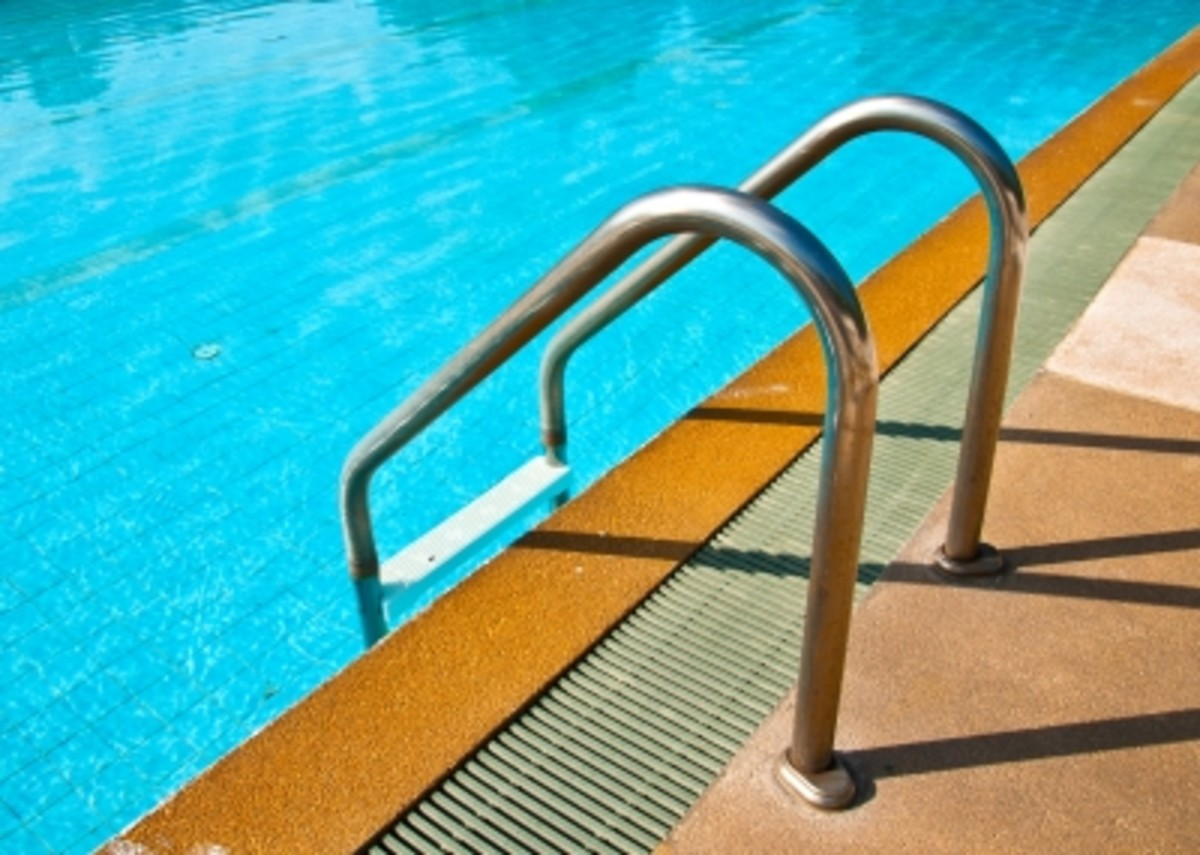 An air conditioned indoor swimming pool keeps out the heat and humidity