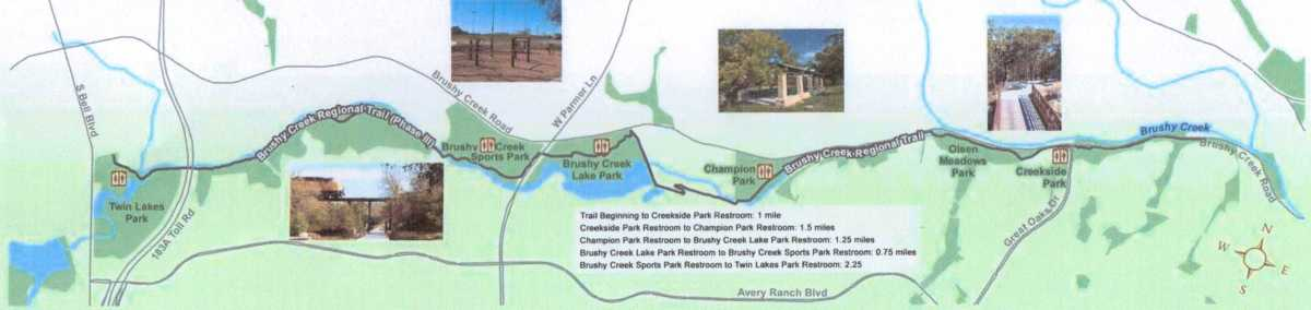Brushy Creek Trail Map - Cedar Park TX