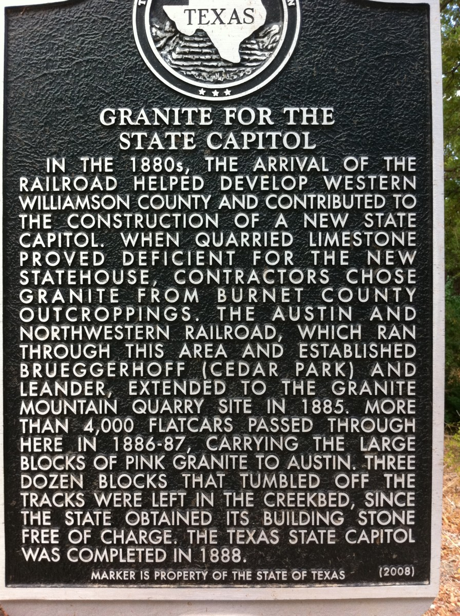 Brushy Creek Park Historical Marker - Cedar Park TX