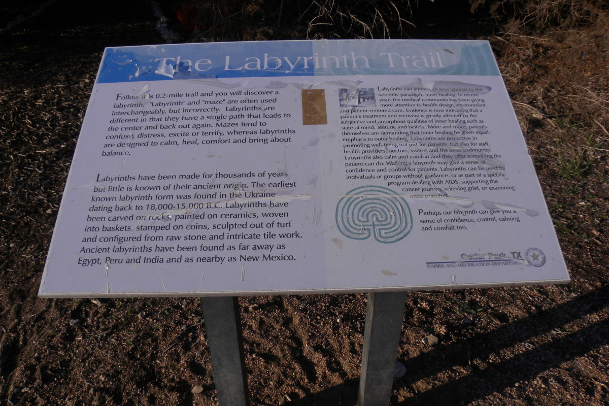 Trial Marker for the Labyrinth - Cedar Park TX