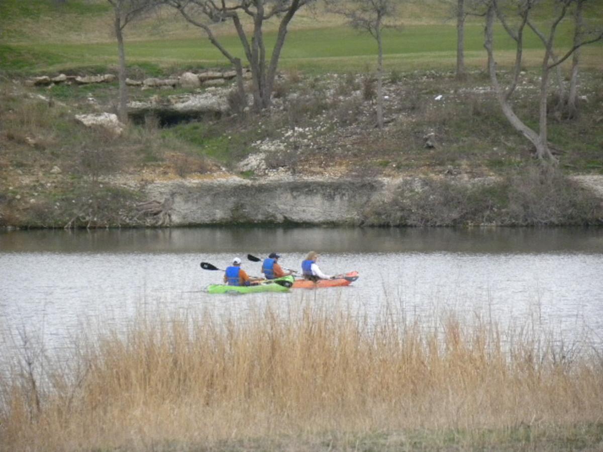 Kayaking at Brushy Creek Lake Park, Cedar Park Texas