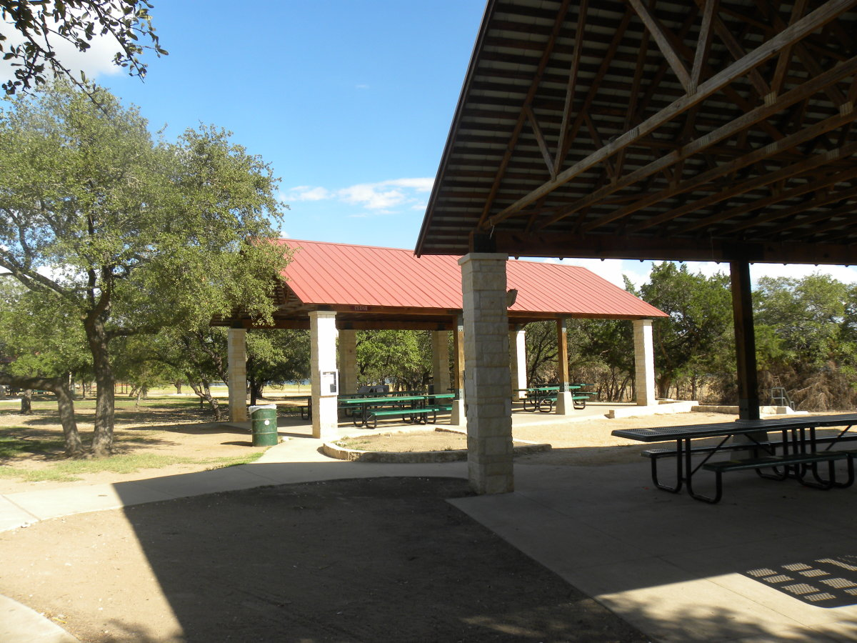 Picnic areas at Brushy Creek Park Cedar Park Texas