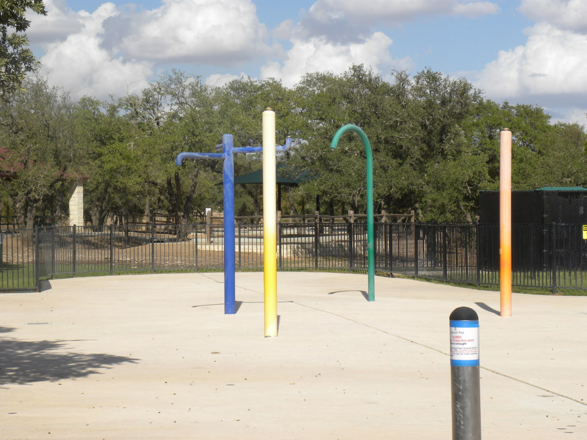 Splash area at Brushy Creek Park Cedar Park Texas