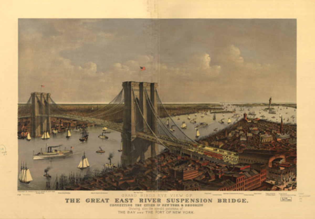 New York's East River as Tesla Saw It - 1885