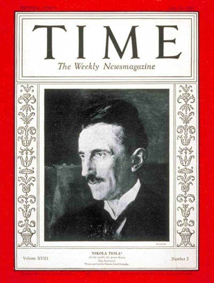 Tesla at 75 - Time, July 20, 1931