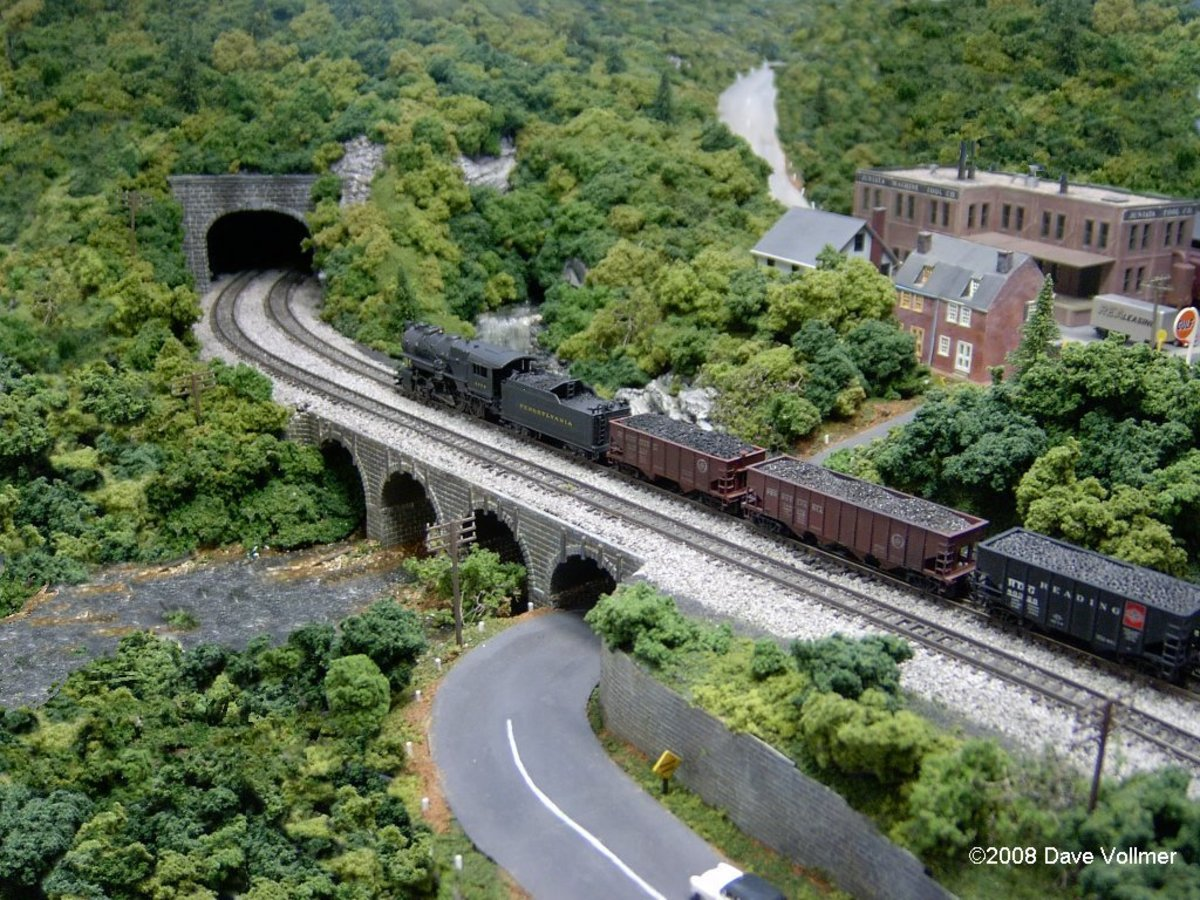 A bridge on the Juniata Division of the Pennsylvania Railroad.