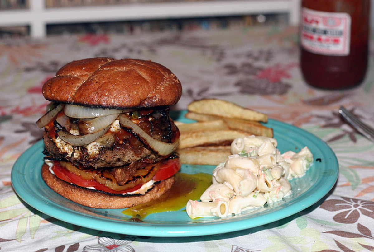 Huge Grilled Hamburger