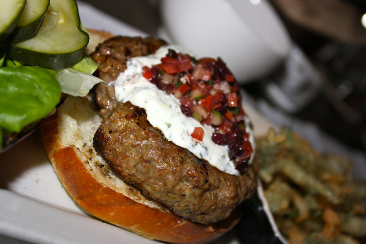 Lamb Burger with Cucumber Dressing