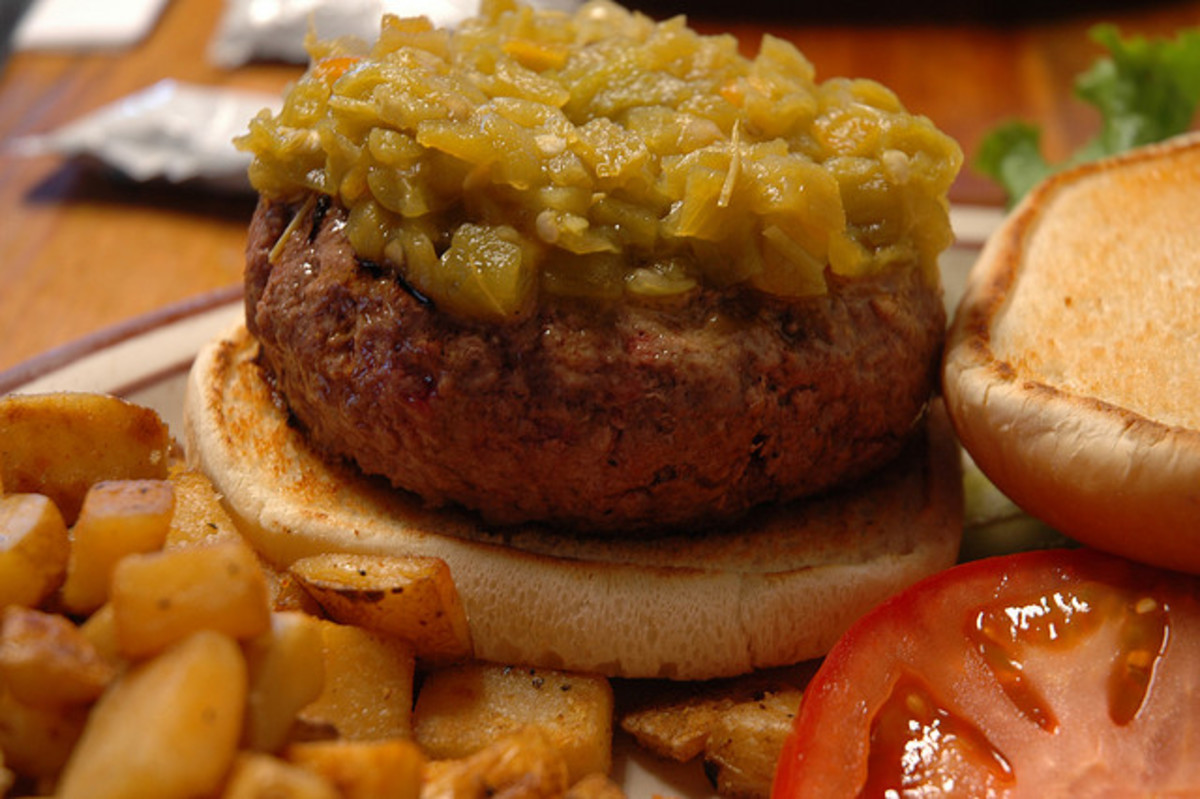 Green Chili Burger