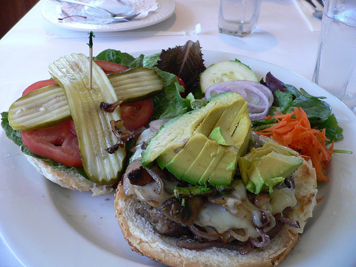Burger with Avocado