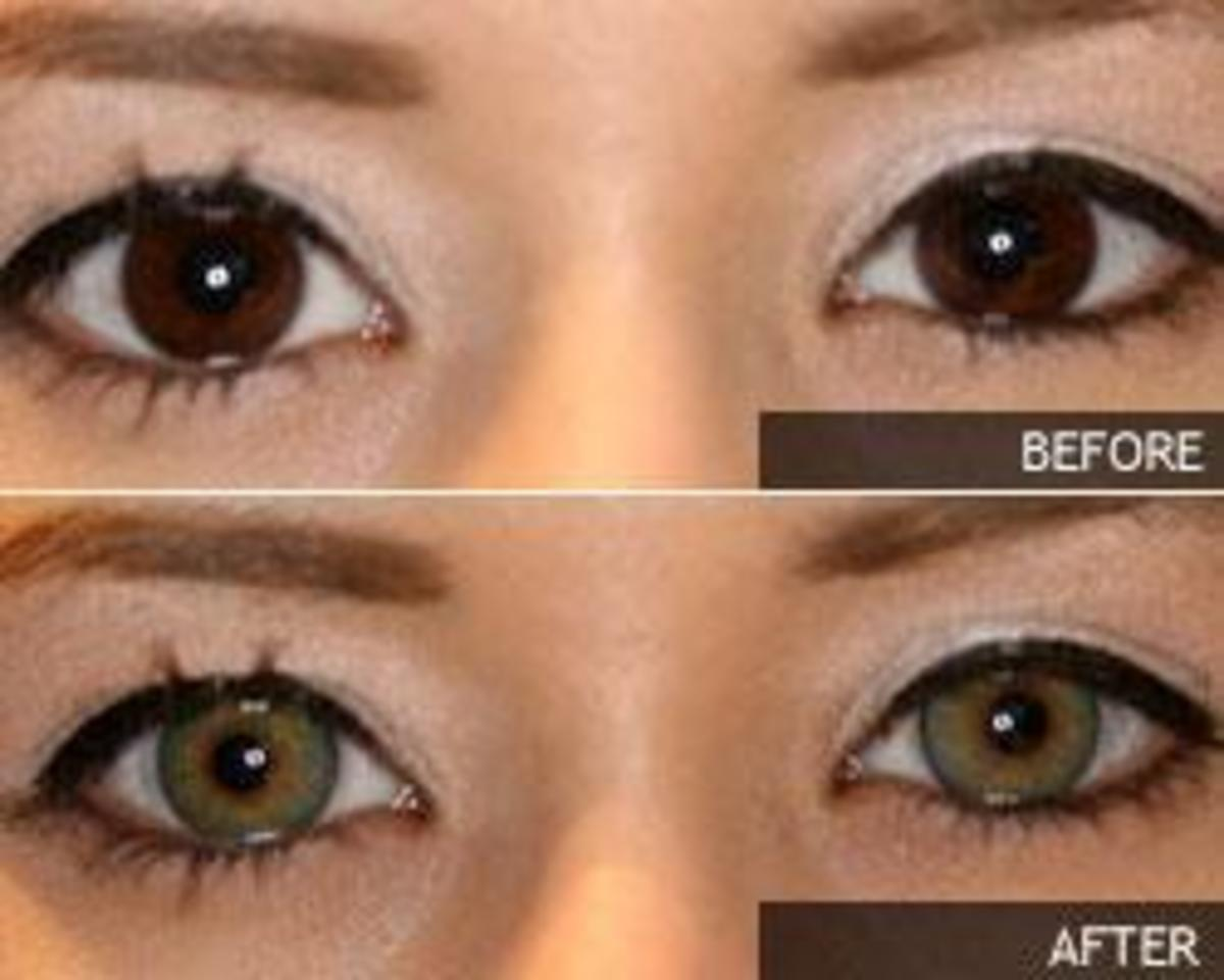 Natural Green Colored Contacts For Brown Eyes