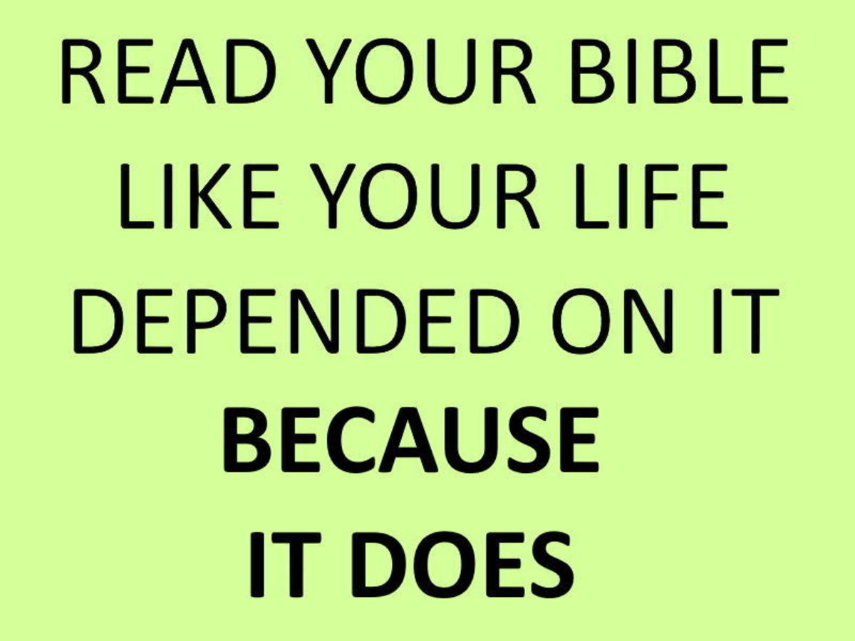 Read Your Bible - Doing So Leads to Life.