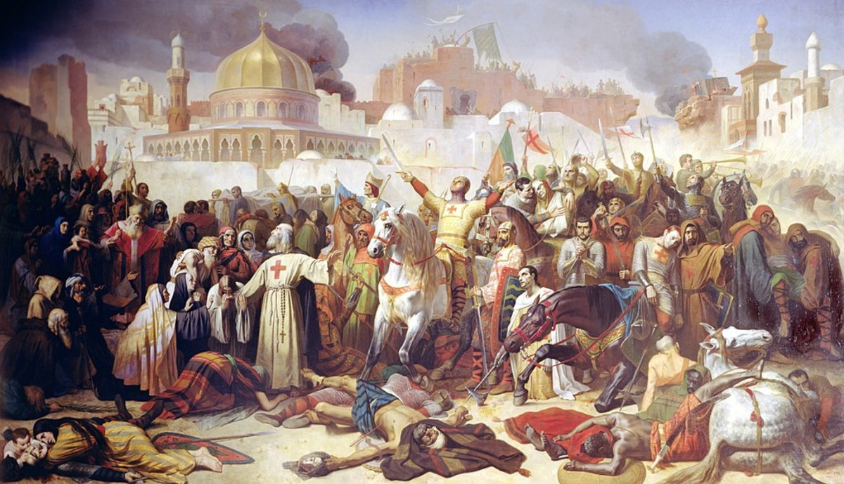 Siege of Jerusalem during the First Crusade of 1099.
