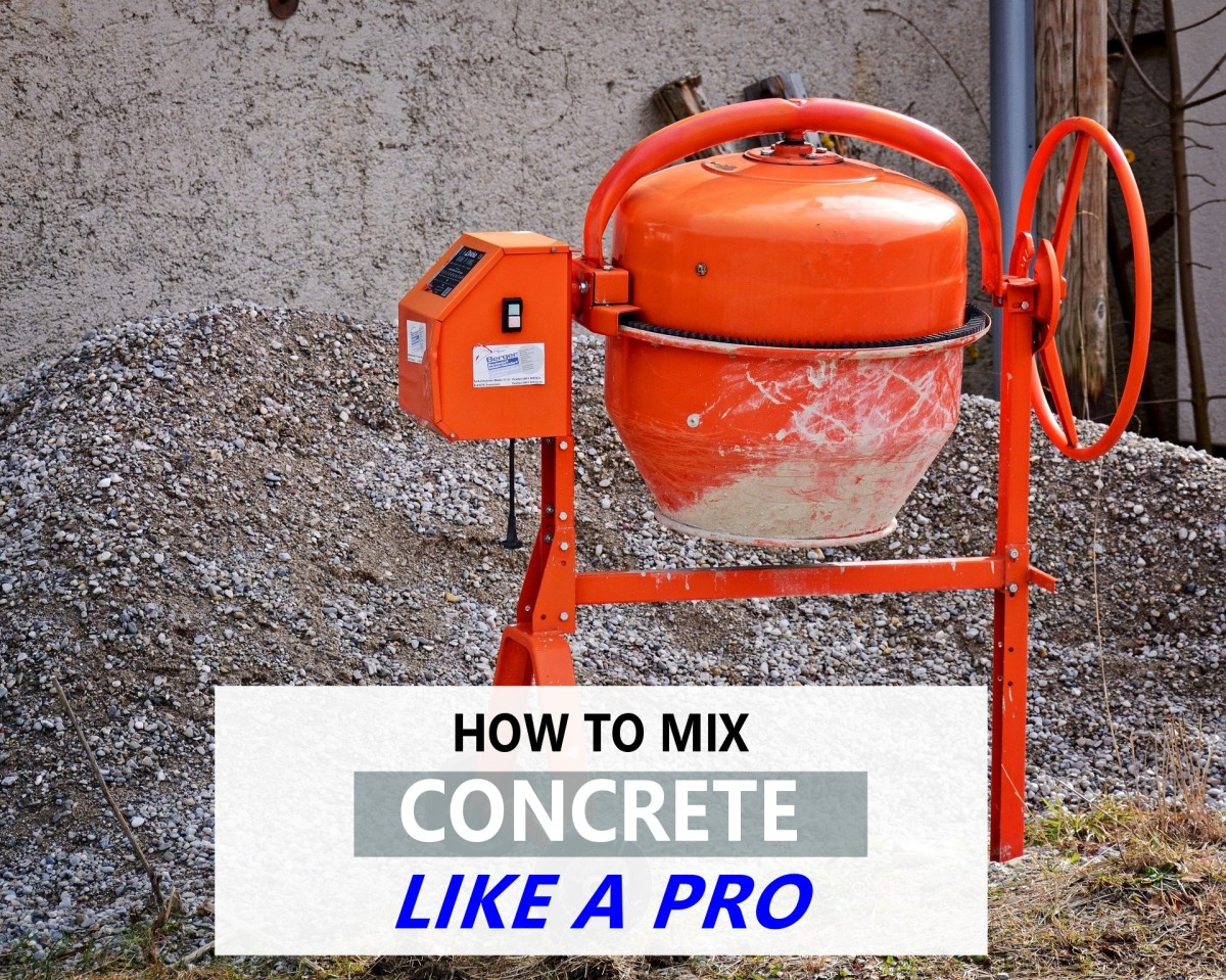 Easy Steps to Making Concrete With a Cement Mixer