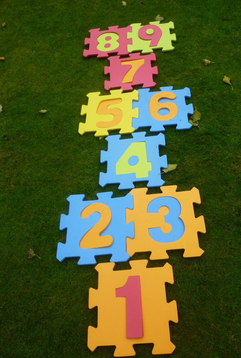 Modern hopscotch set - can be used indoors or outdoors.