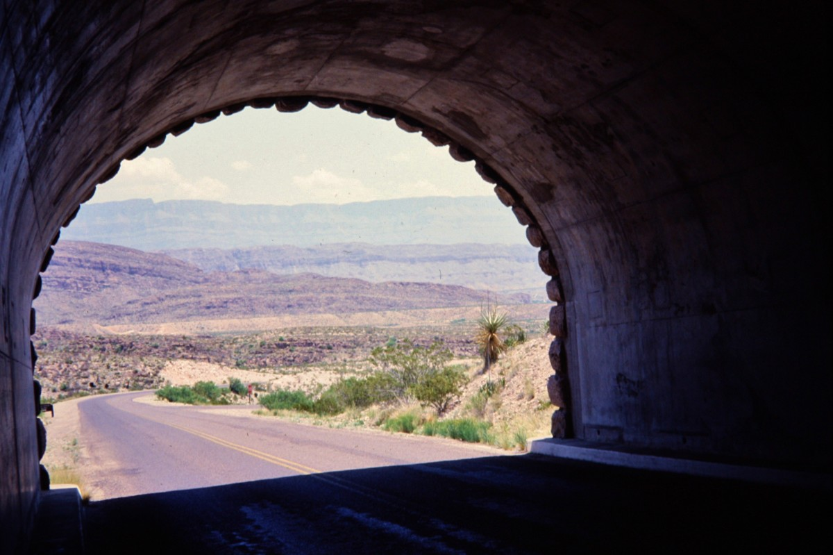 Approaching Big Bend country