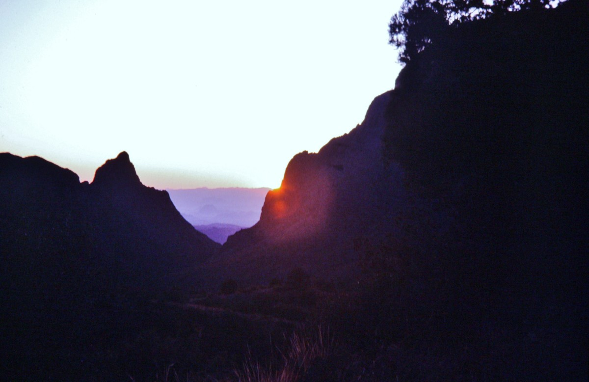 Chisos Mountains sunset.