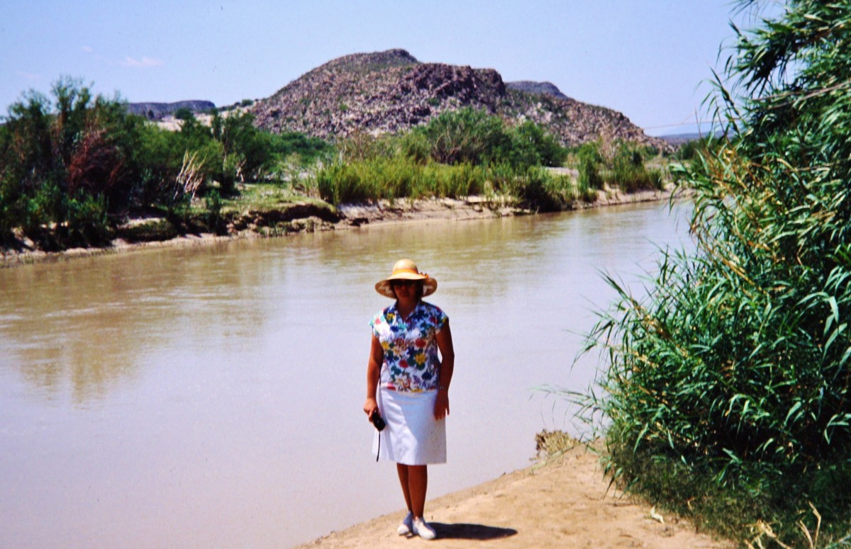 Yours truly by the Rio Grande River in Big Bend National Park