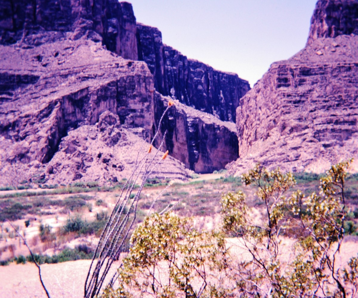 Looking at Santa Elena Canyon from a distance.