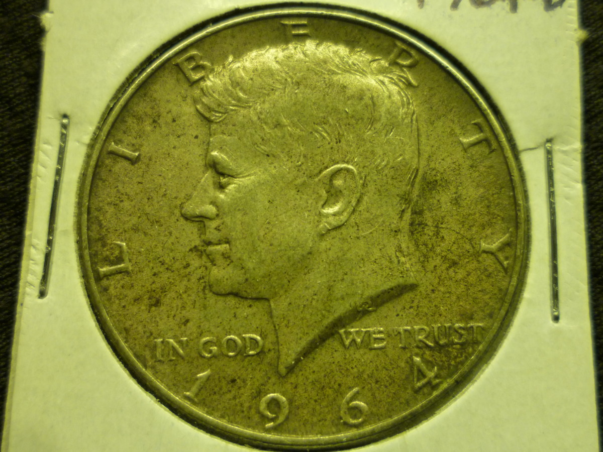 Pictured above is the original year, 1964 90% Silver Kennedy Half Dollar.