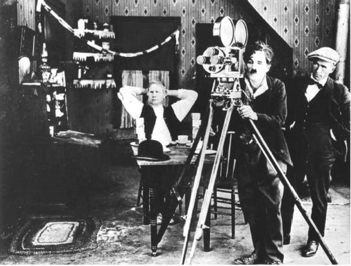 "Charlie Chaplin in ""Behind the Screen"""