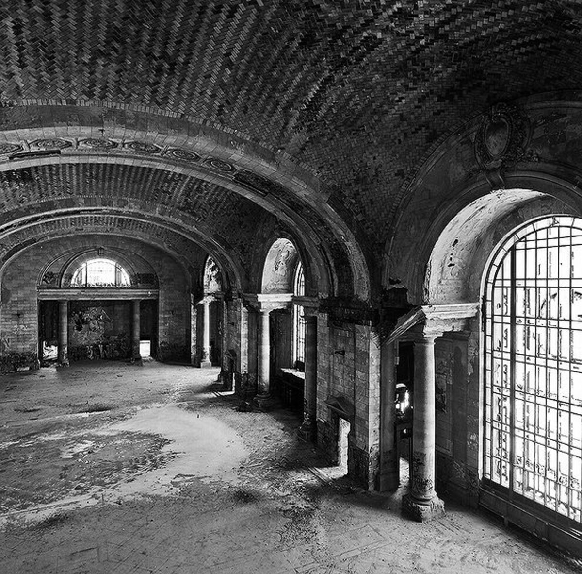 Interior Mezzanine of Michigan Central Station