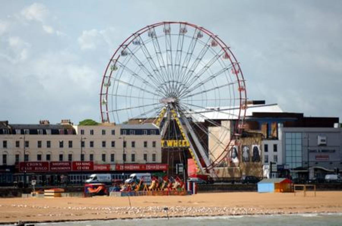 Picture of the original 148-ft high ferris wheel.