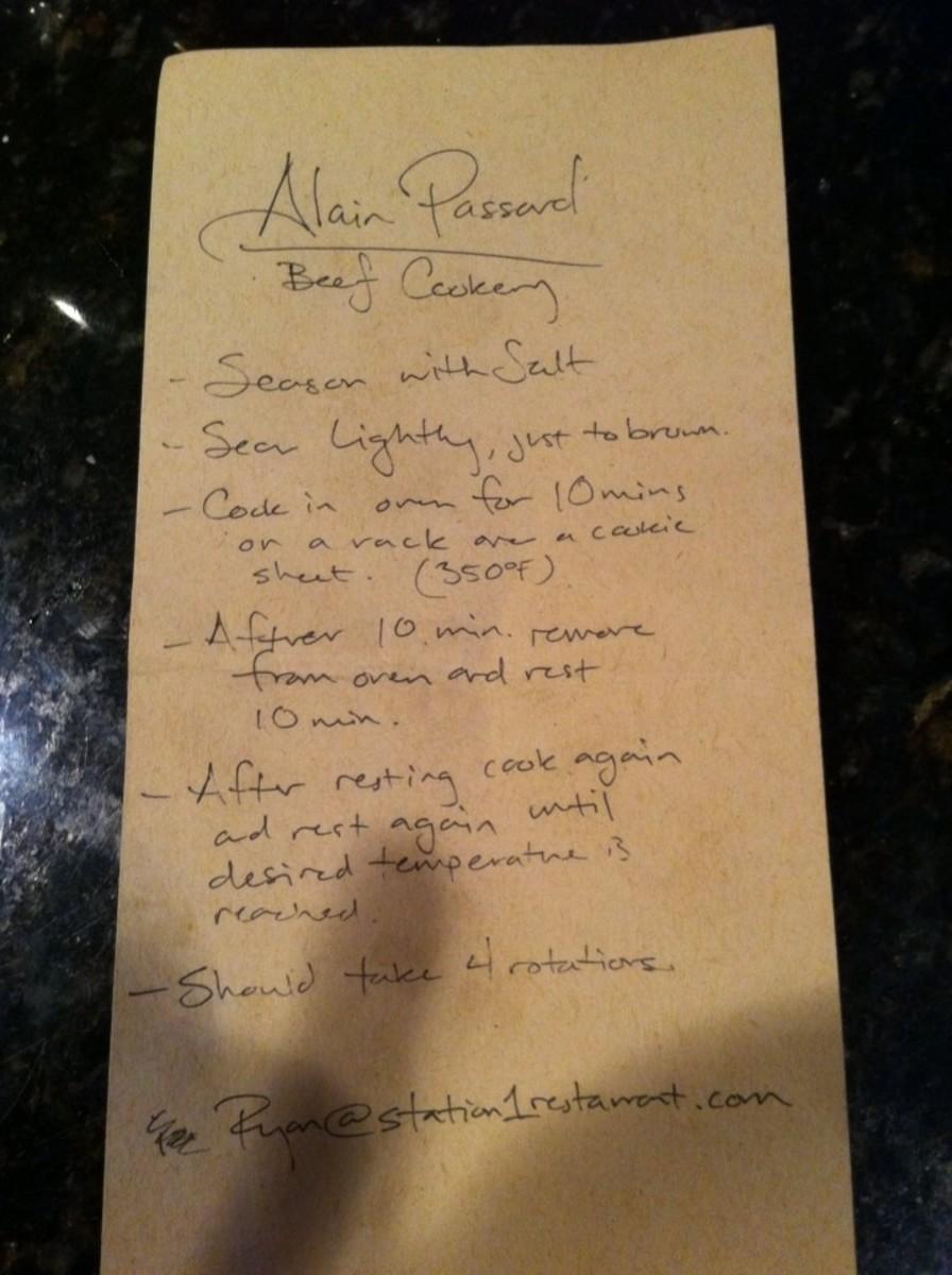 Alain Passard Wagyu Beef Recipe