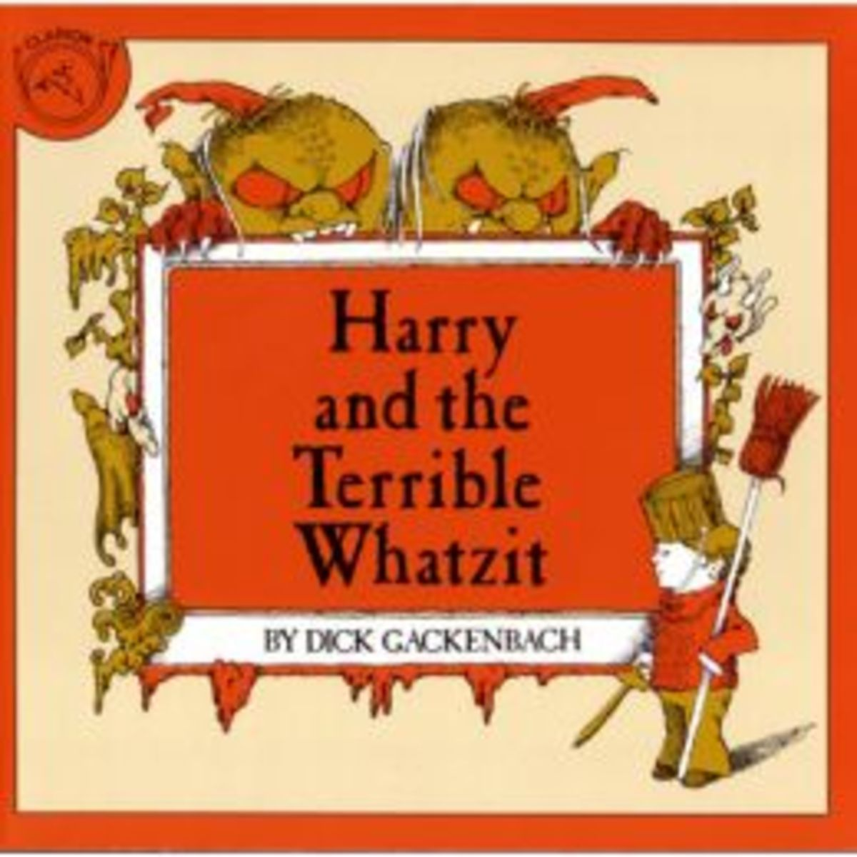 There's a Whatzit hiding in Harry's basement, and it grows when Harry is frightened. When Harry stands up to the bully, he defeats the monster and drives it from his basement.