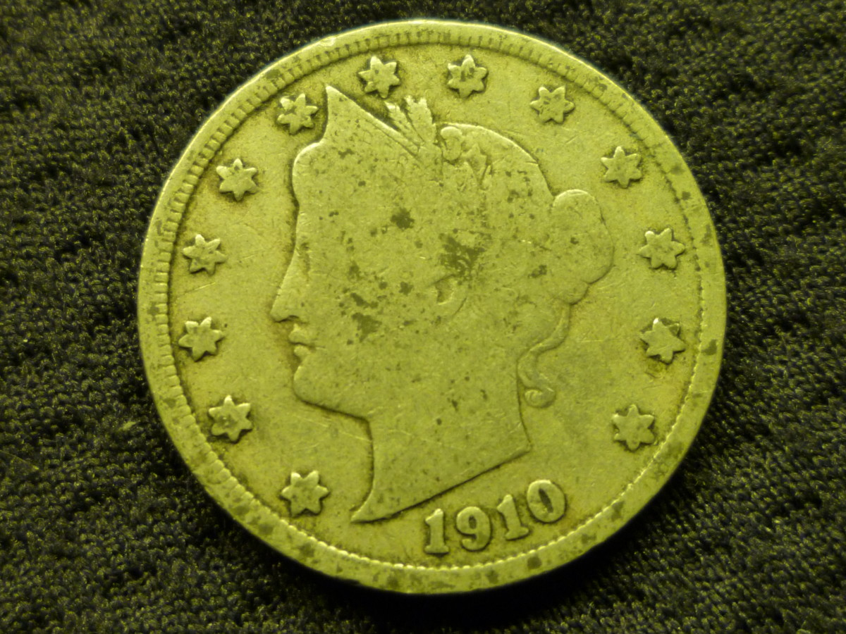 Value of Liberty Head Nickels. Shown above is a 1910 in Fair condition.