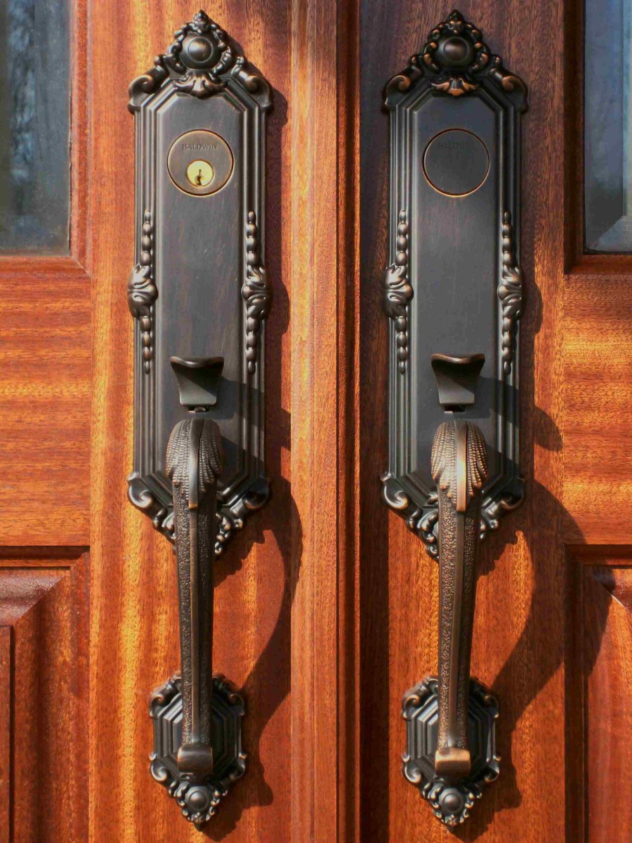 front door hardware - stately and classic