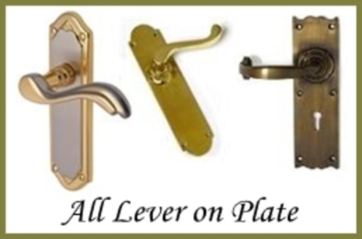 Lever on Plate Door Hardware