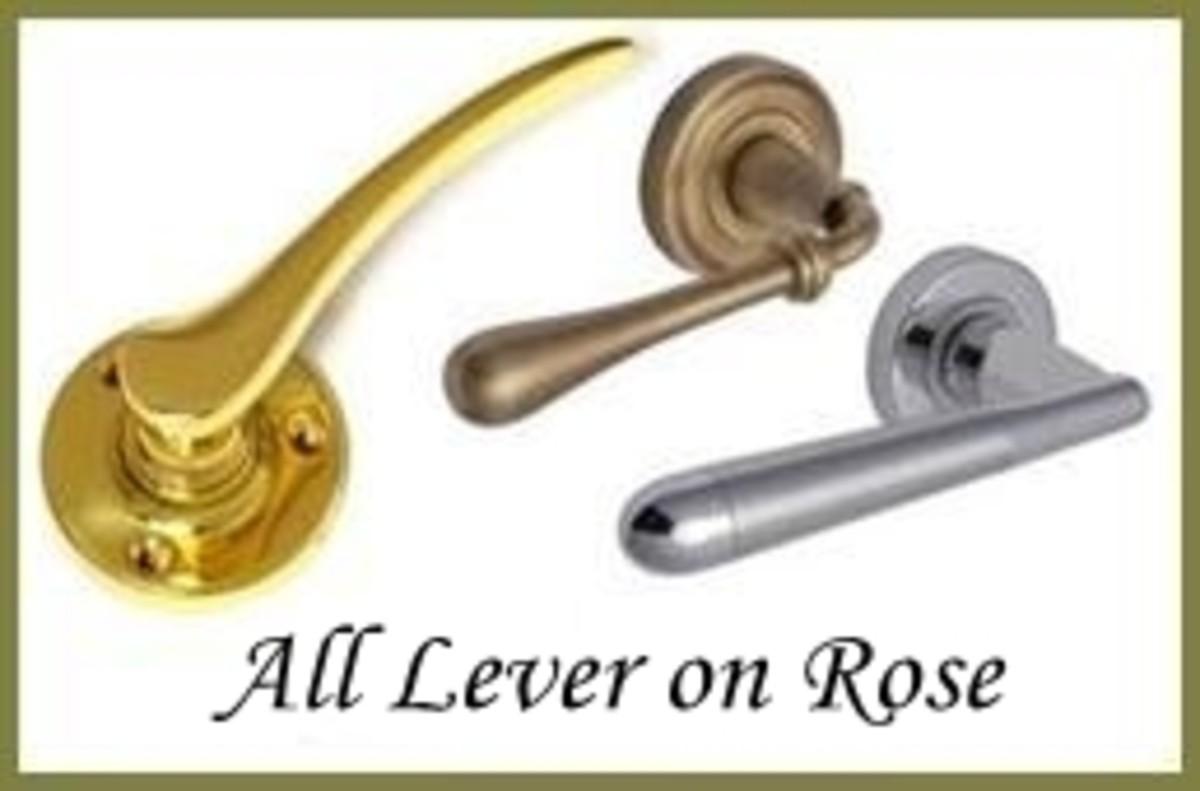 Lever on Rose Door Hardware