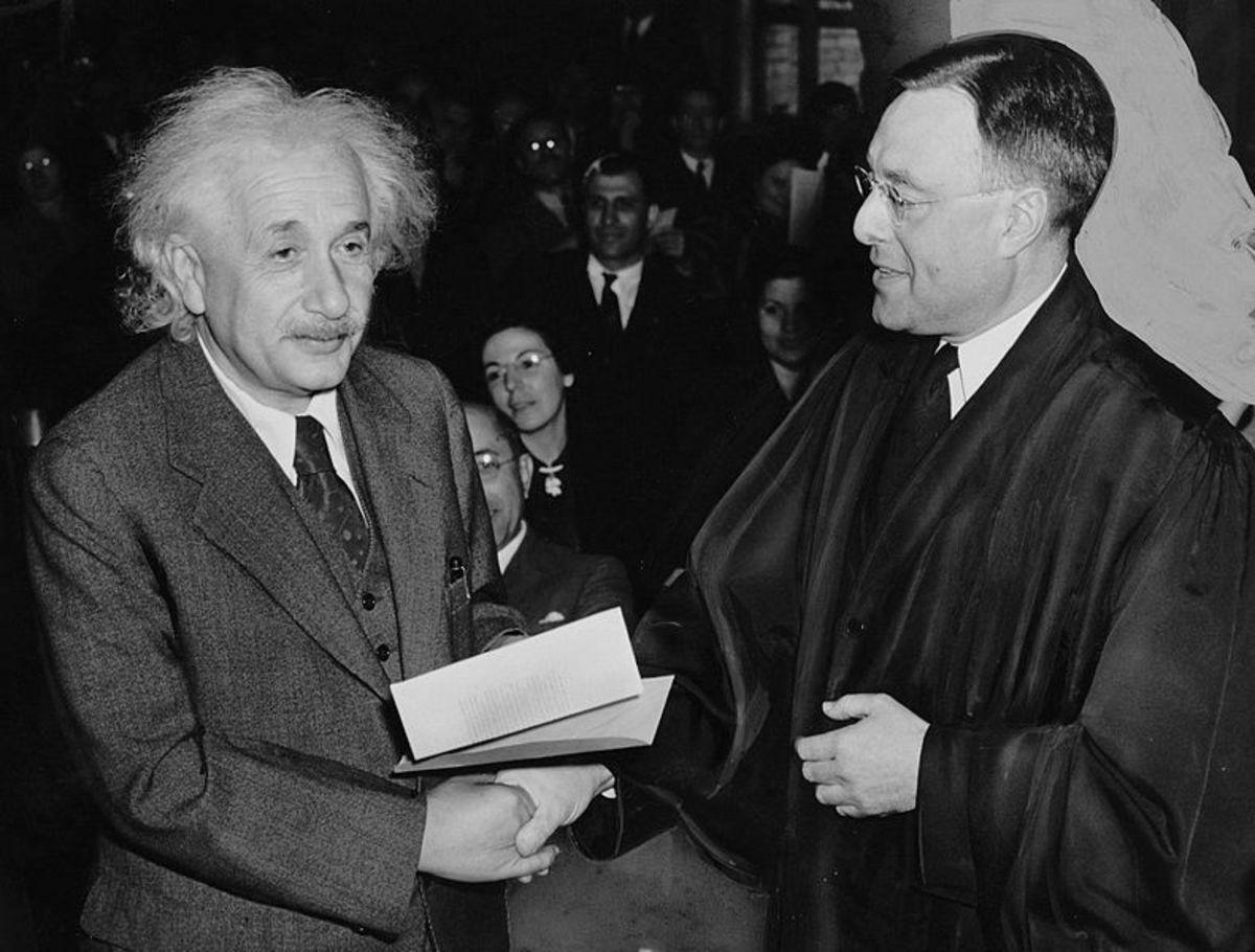 - says Albert Einstein after accepting US citizenship.