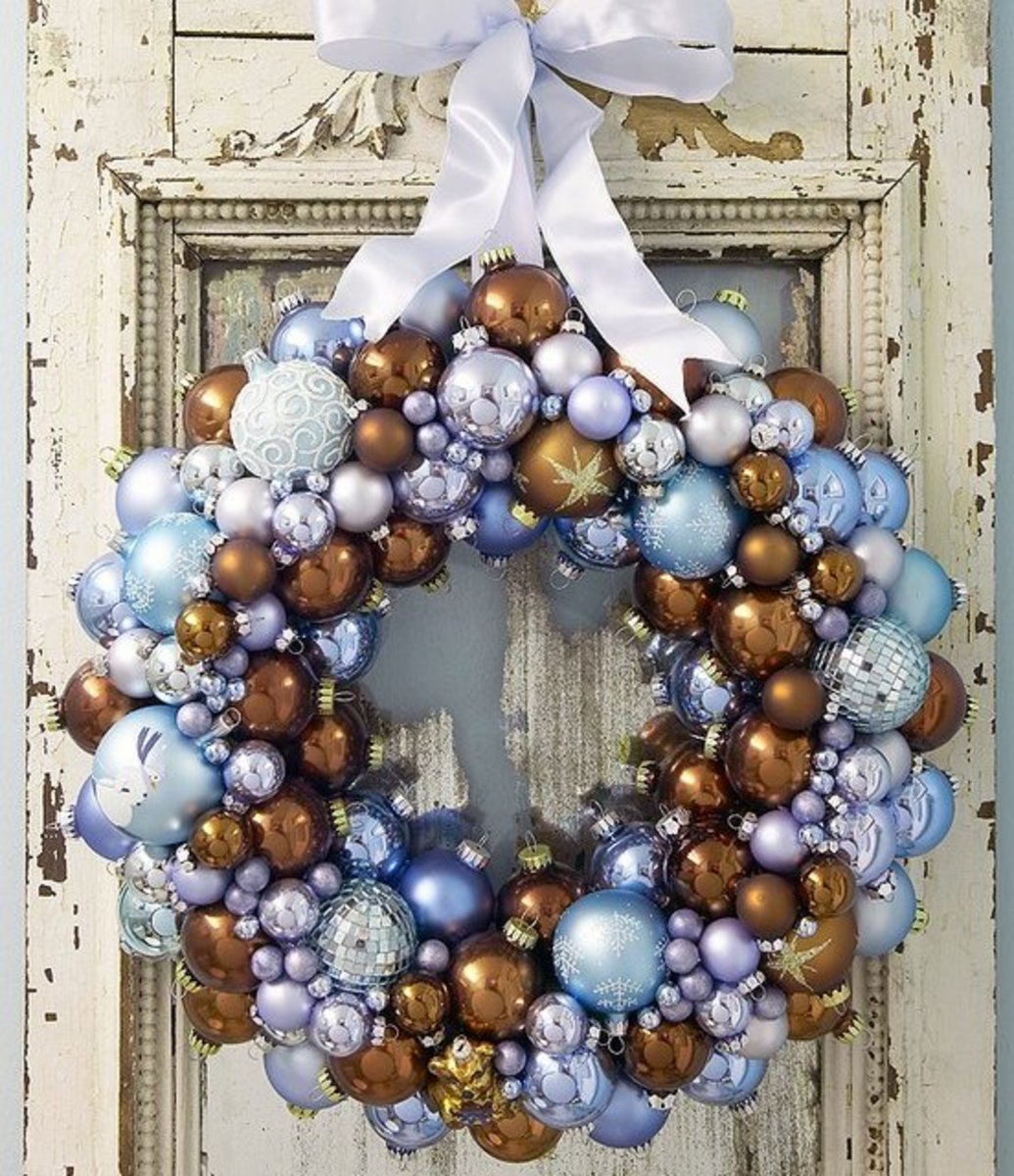 Shimmery ornament wreaths are so beautiful, yet, so easy to make.