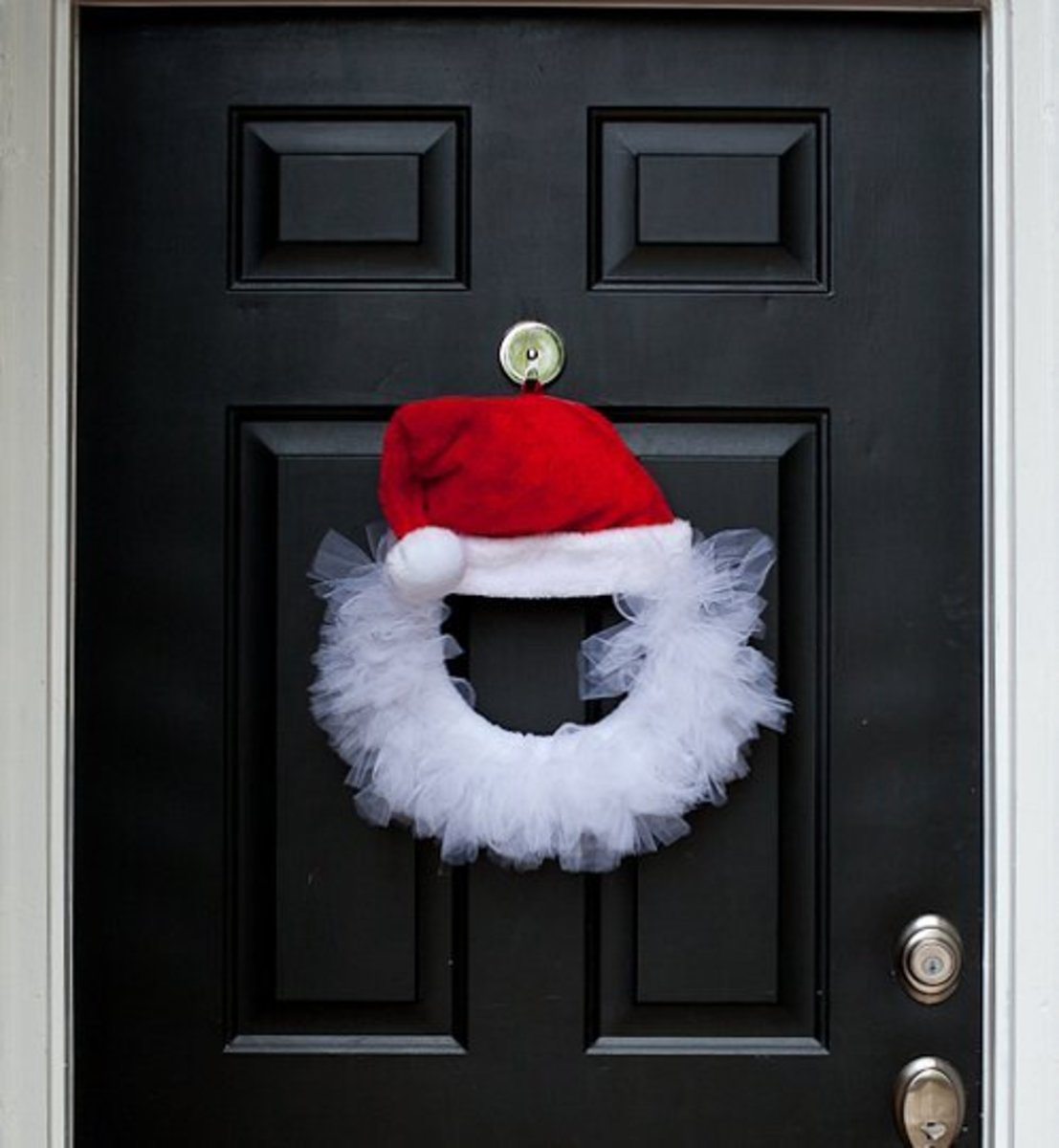 Santa knocking at the door.