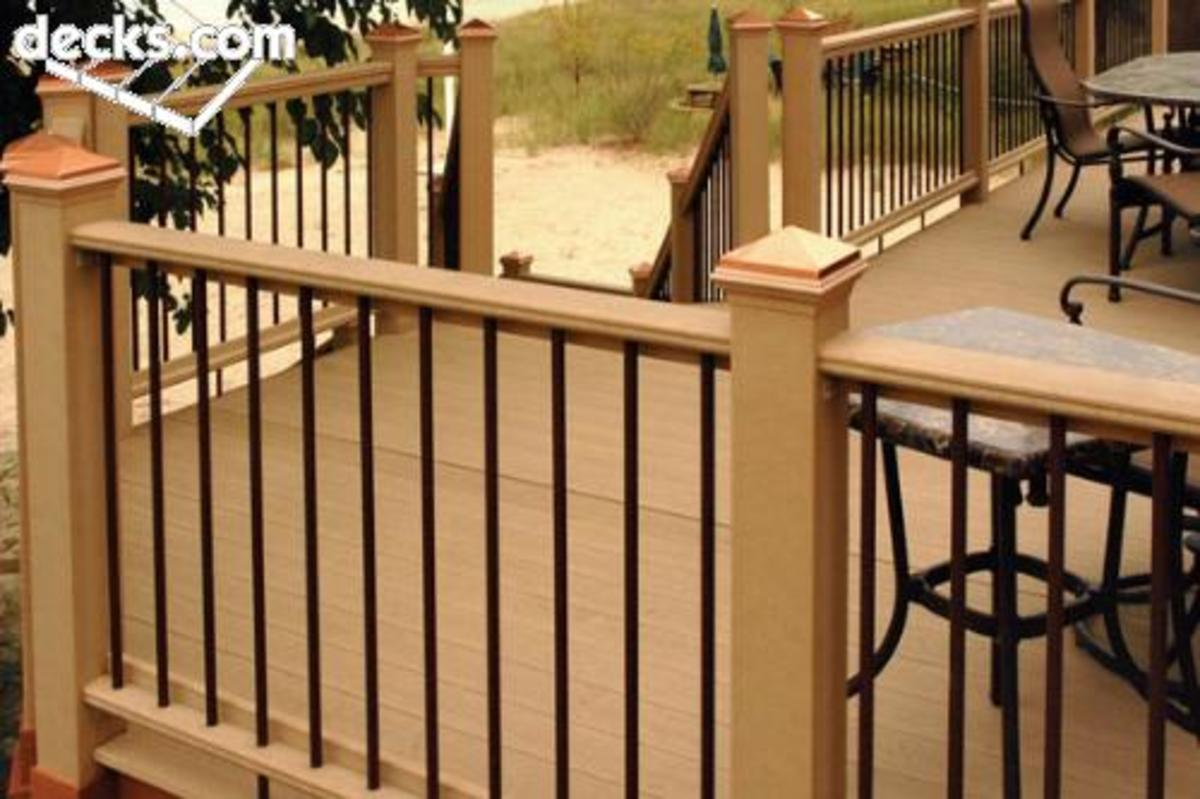 Railing #5.  As shown, even railings made of composite materials can be very attractive