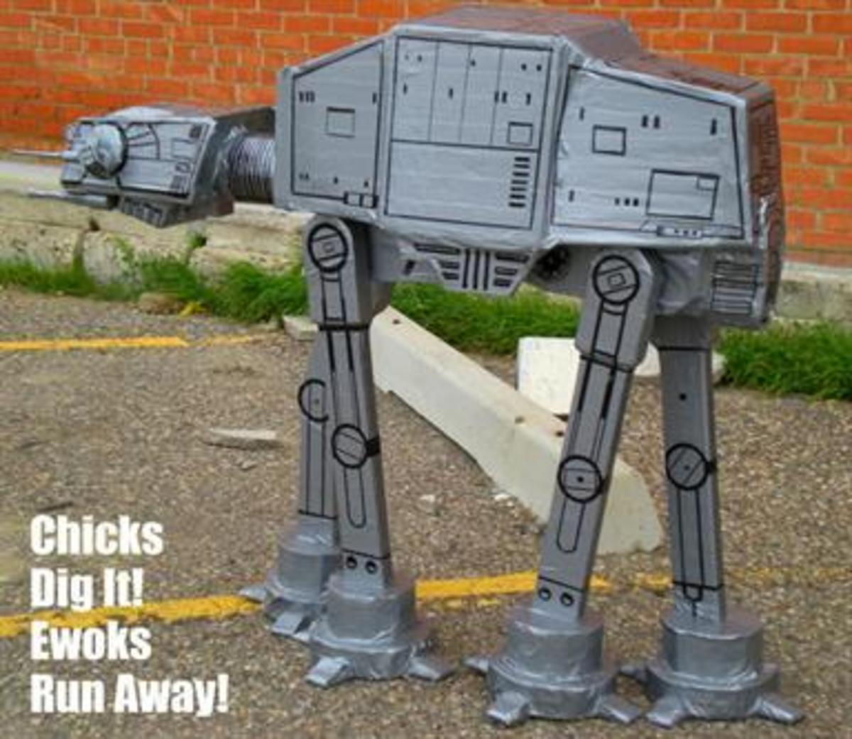 Duct tape At-At from Star Wars