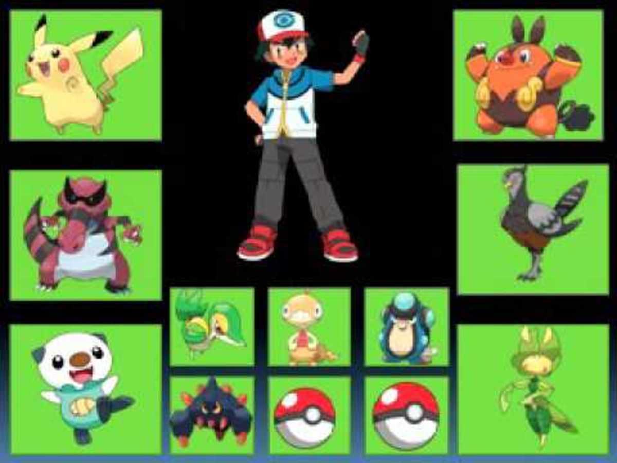 Ash's Unova Team