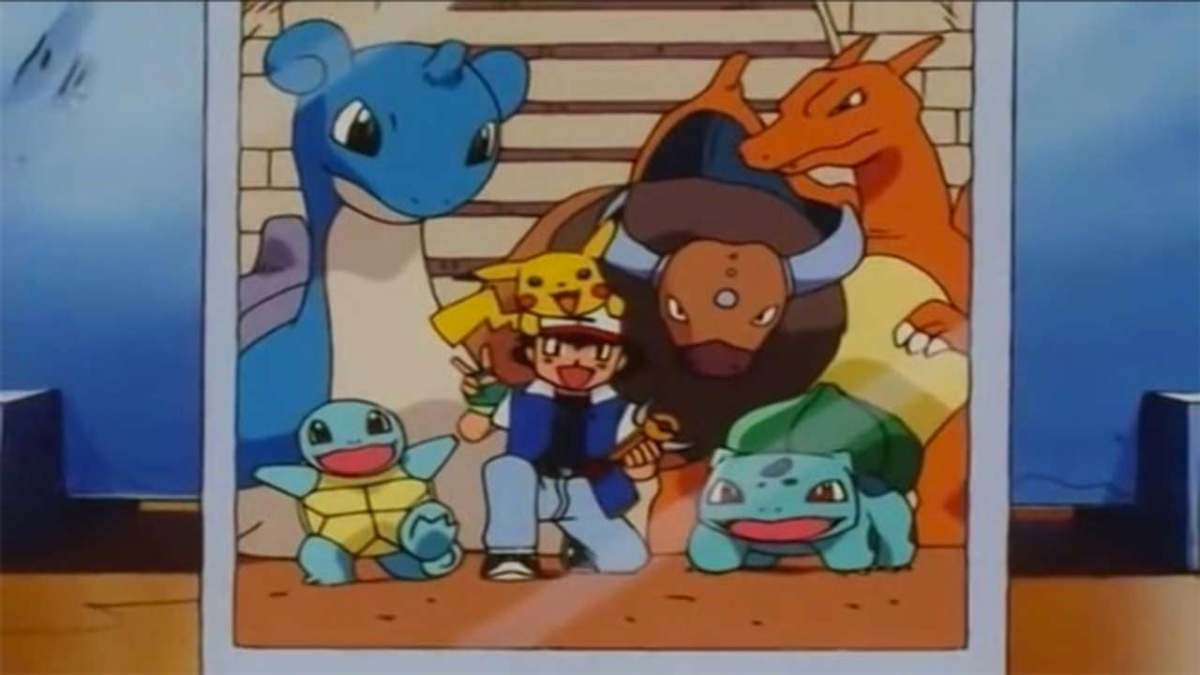 Most of Ash's Orange Islands team