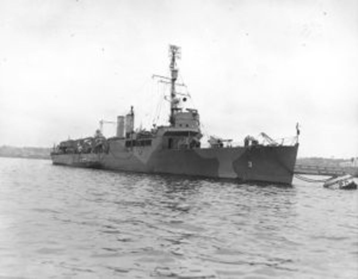 USS Gregory sunk by superior Japanese forces near Guadalcanal after delivering a battalion of Marines to the island. Its sister ship, the USS Little was sunk in the same battle.
