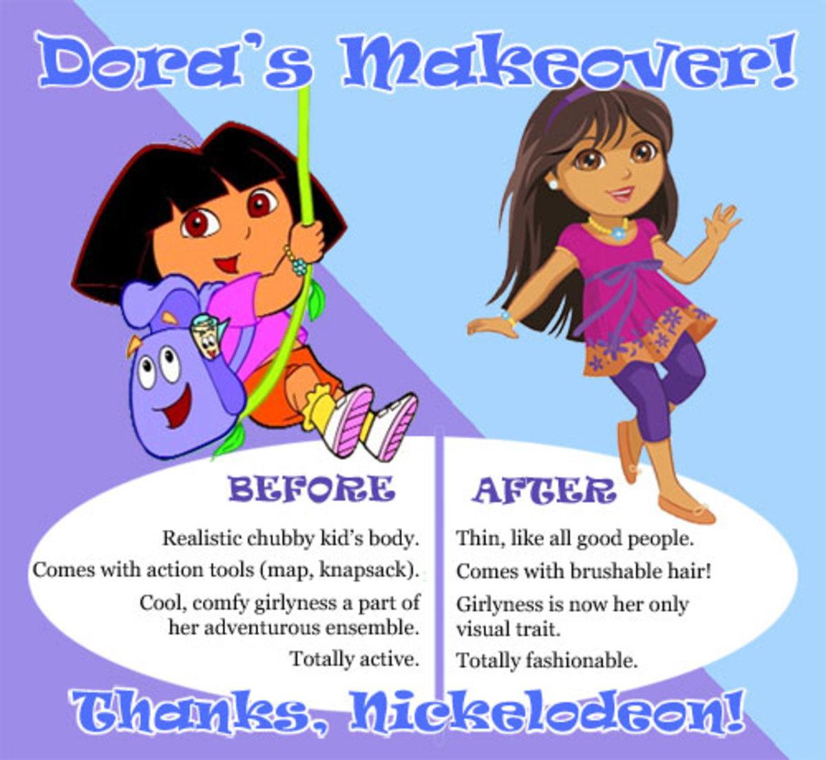 Kid Dora vs. Pre-teen Dora