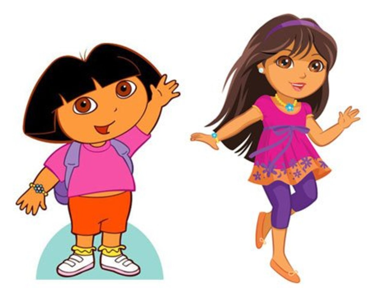 7-years old Dora and new 10-years old Dora
