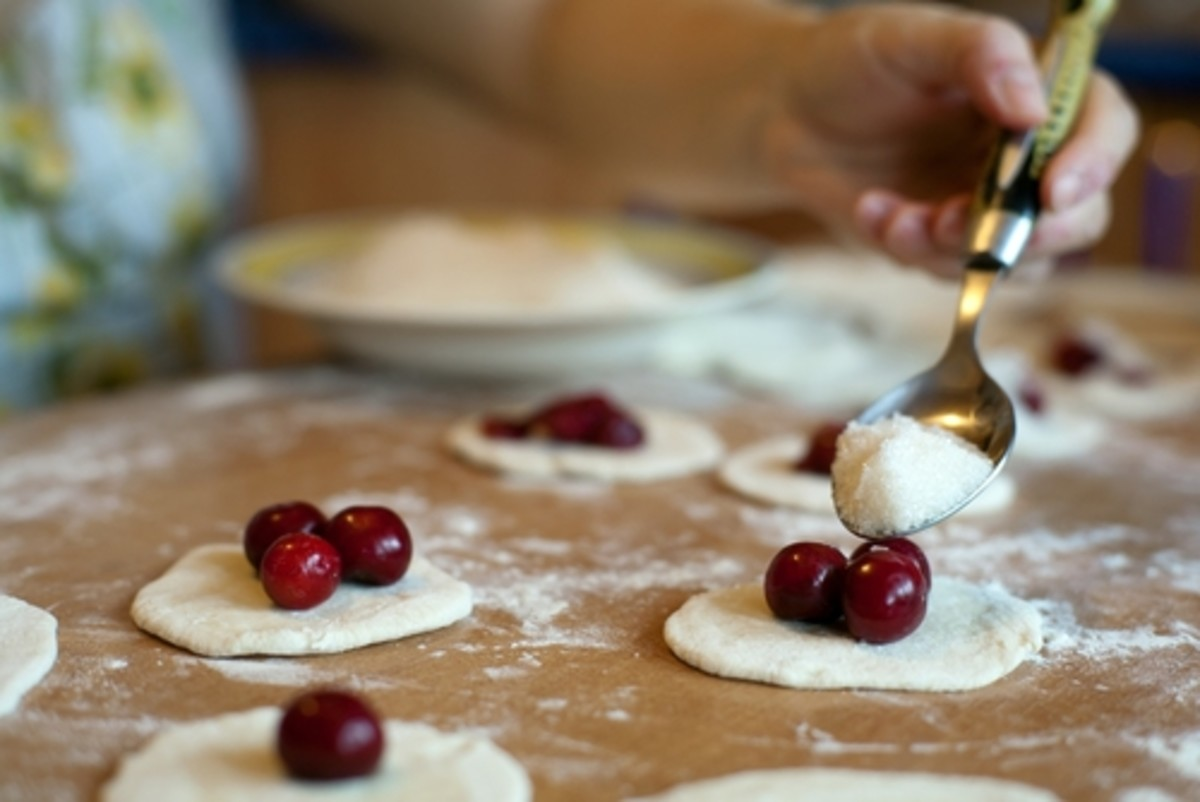 Making dumplings with fresh cherries. Image:  Velychko|Shutterstock.com