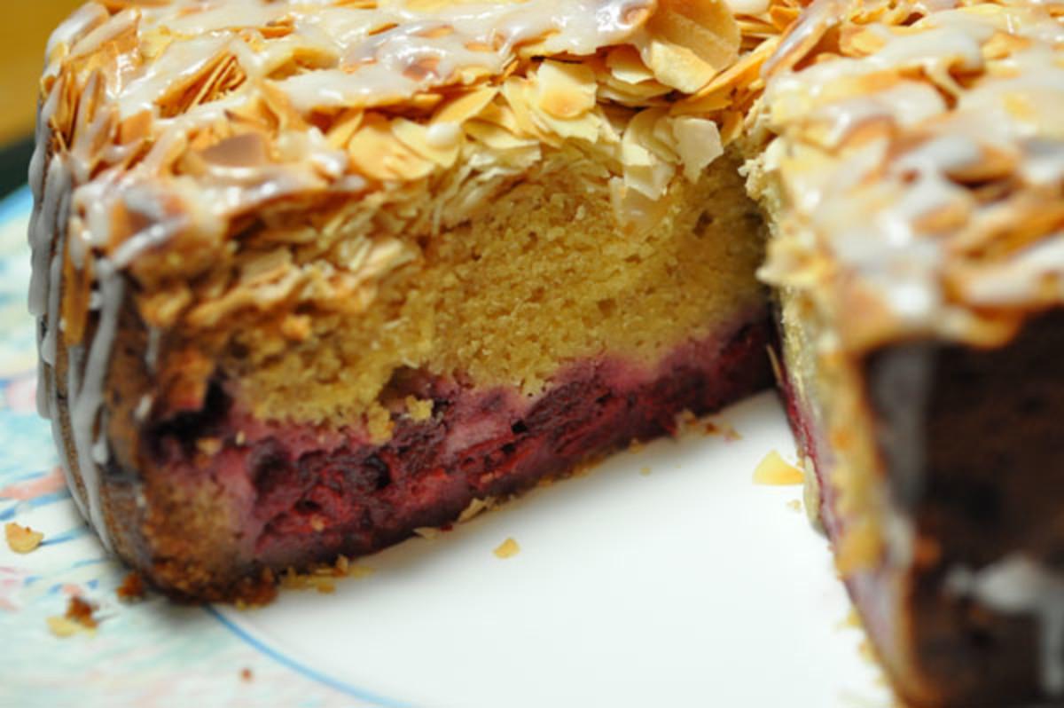 Sour Cherry & Almond Cake Image:  Siu Ling Hui